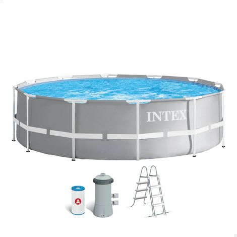 INTEX 26716NP - Piscina redonda desmontable gama Prisma Frame 366x99 cm con depuradora