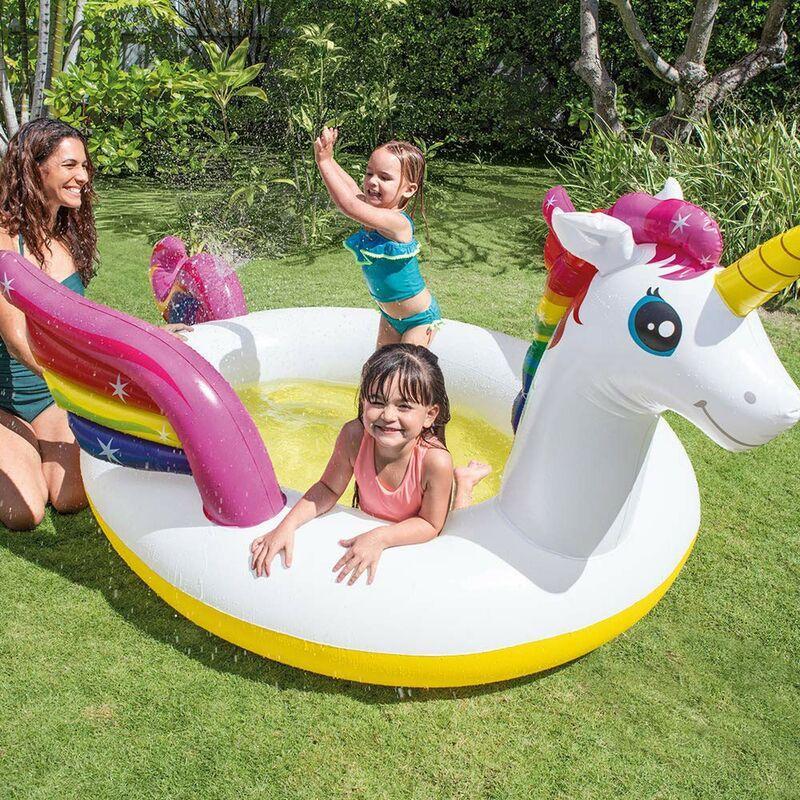 9d4aef5f138e Piscina Rotonda Unicorno 272x193 per Bambini Intex Gonfiabile Gioco  Giardino - 43014MM