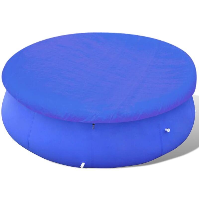 Telo di Copertura per Piscina Fuoriterra Rotonda 450 457 cm Blu Vidaxl
