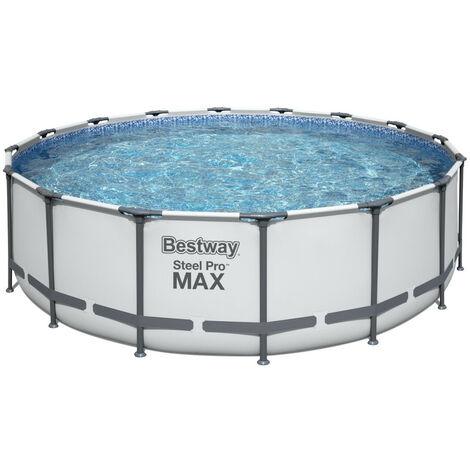 Piscina tubular redonda sobre suelo BESTWAY Steel Pro Max™ Ø 488 x 122 cm