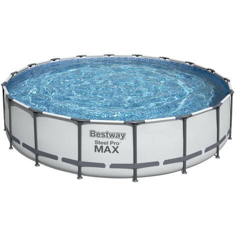 Piscina tubular redonda sobre suelo BESTWAY Steel Pro Max™ Ø 549 x 122 cm