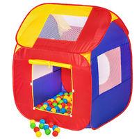 Piscine à balles Cabane Maison Tente Pop-Up de Jeux pour Enfant 86 cm x 84 cm x 102 cm Multicolore