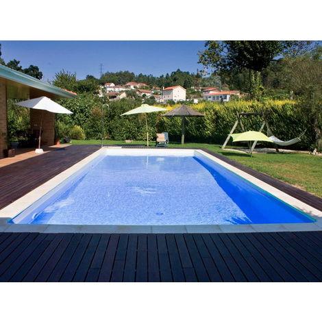 piscine acier sunkit rectangulaire bleu france. Black Bedroom Furniture Sets. Home Design Ideas