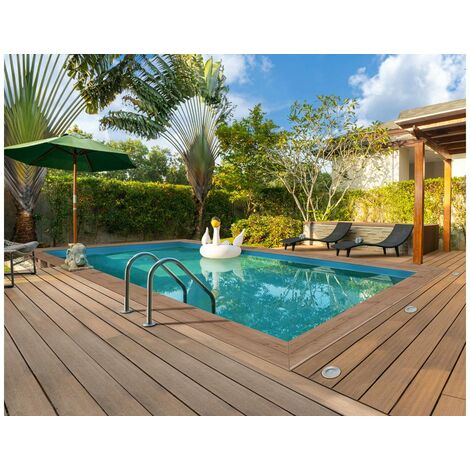 "Piscine bois rectangle "" Panama ""- 6.20 x 4.10 x 1.45 m"