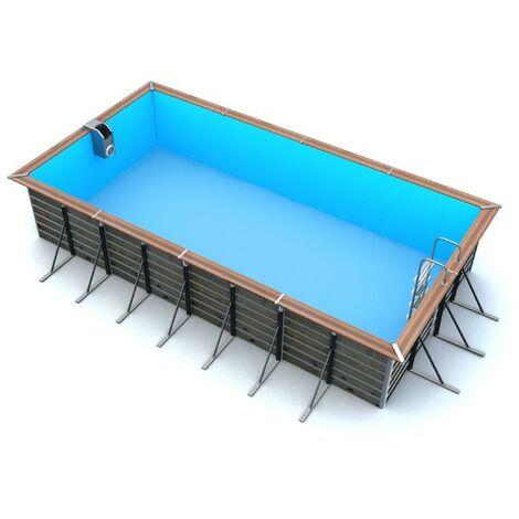 Piscine bois rectangulaire 6,80 x 3,70 x 1,47 m TILOS
