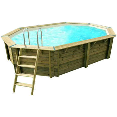 Piscine bois Sunwater 4,90 x 3,00 x 1,20 - Ubbink