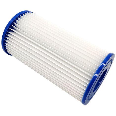Piscine Element De Filtre Reutilisable Piscine Filtre Cartouche Pompe De Rechange Filtre Compatible Avec Bestway Vii / D Intex Menage Piscine Accessoires, 107*203Mm
