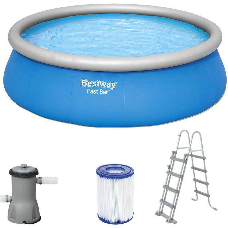 Piscine Fast Set Ø457 cm hauteur 122 cm piscine gonflable enfants échelle - Bestway