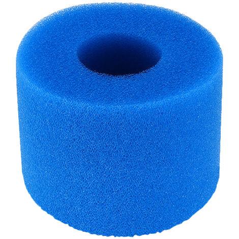 """main image of """"Piscine Filtre, Piscine Filtre Pour Intex Type S1 Reutilisable / Lavable Piscine Filtre En Mousse Eponge Cartouche Nettoyeur De Piscine, Bleu 10,8 X 7,3 Cm"""""""