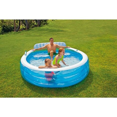 Piscine gonflable avec banc Intex