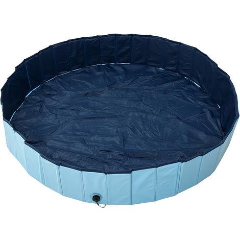 piscine gonflable baignoire pliable en plein air maison pour animal de compagnie adulte famille jouets gar?ons enfants jardin parc aquatique arrière-cour bain rondelle baignoire 160X30 CM