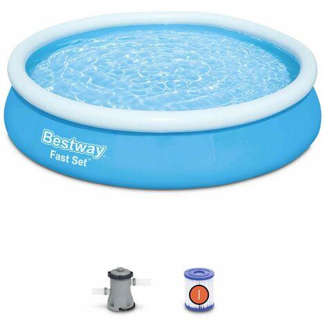 Piscine gonflable bleue autoportante BESTWAY – Jade ⌀ 360 x 76 cm - piscine hors sol autostable ronde