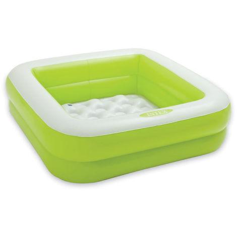 Piscine gonflable carrée Verte - Intex