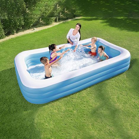 Piscine gonflable de 3.05m épaissir le baril de bain Adultes Baignoire pliante pour enfants Baignoire gonflable Piscine gonflable 305 * 183 * 56cm (15527 bleu et blanc)