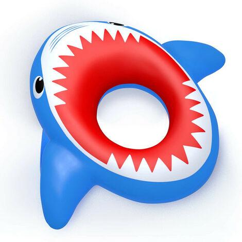 Piscine gonflable de lit flottant de requin pour enfants et adultes, anneau de natation g