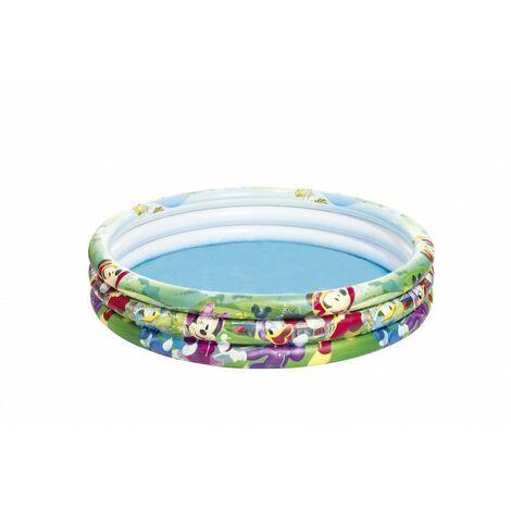 Piscine gonflable - Disney Mickey - 3 boudins - D 122 cm x H 25 cm