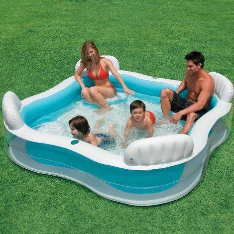 Piscine gonflable familiale avec sièges - INTEX
