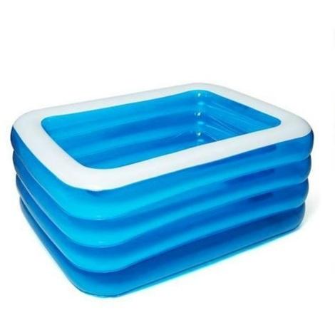 Piscine gonflable familiale pour enfants bleu et blanc à quatre couches 180 * 125 * 72cm
