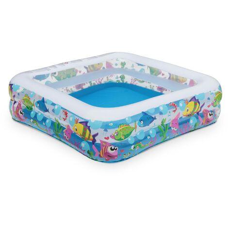 Piscine gonflable pour enfants AQUARIUM, 145x145cm, pataugeoire, petite piscine