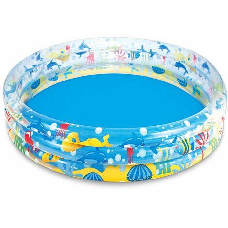 Piscine gonflable pour enfants - Pataugoire - Ø 152 cm - Design marin - Bestway