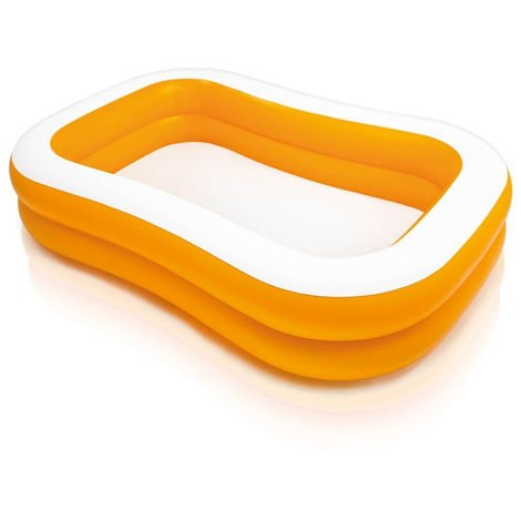 Piscine gonflable rectangulaire Family Abricot INTEX
