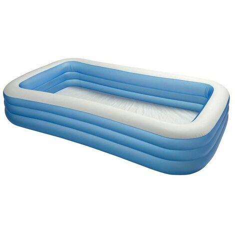Piscine gonflable rectangulaire family - Bleu - Intex - Livraison gratuite