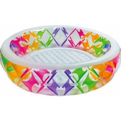 Piscine gonflable ronde design croisillons - Intex - Piscine - Livraison gratuite