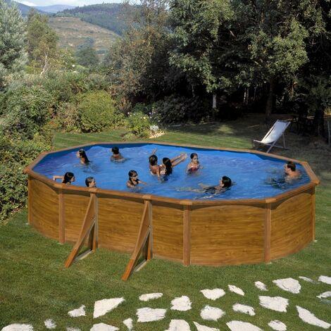 Piscine Gre Pacific 610x375x120 KIT610W Filtre de 6 m3/h et Liner 40/100