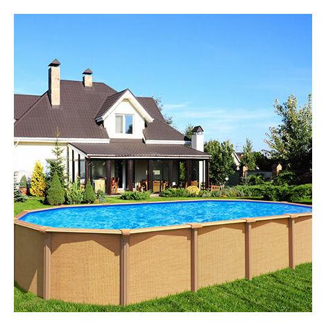 piscine hors sol acier aspect bois 6 40 x 3 95 m osmose. Black Bedroom Furniture Sets. Home Design Ideas