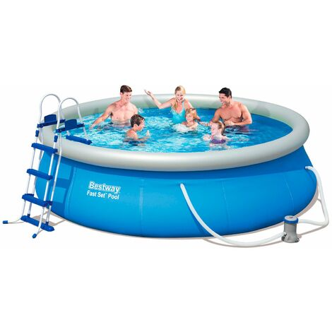 piscine hors sol autoportante gonflable bestway fast set. Black Bedroom Furniture Sets. Home Design Ideas