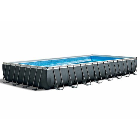 Piscine Hors-sol Intex 26374 Rectangulaire Ultra XTR Frame 975x488x132