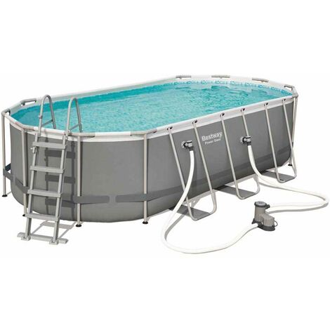 Piscine Hors Sol Ovale Bestway 56710 Power Steel 549x274x122 cm