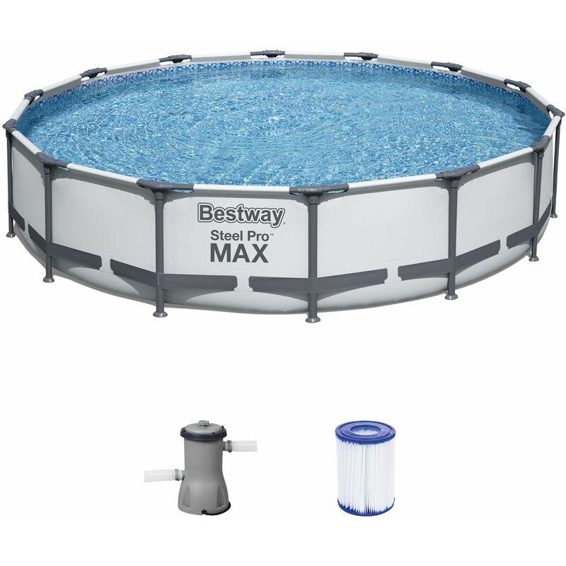 Piscine hors sol 427 x 84 cm pompe de filtration flowclear cartouche filtrante rustine auto-adhésive - Bestway