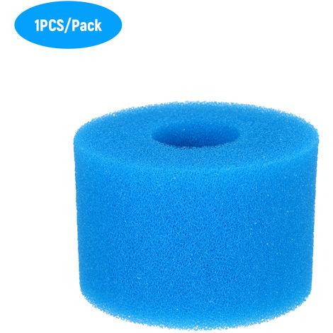 Piscine Nettoyage Du Filtre D'Outils Reutilisables Lavables Eponge En Mousse Filtre Cartouche De Remplacement Pour Le Type S1 Filtre Bleu 7.5 * 10 * 10Cm 5Pcs / Paquet