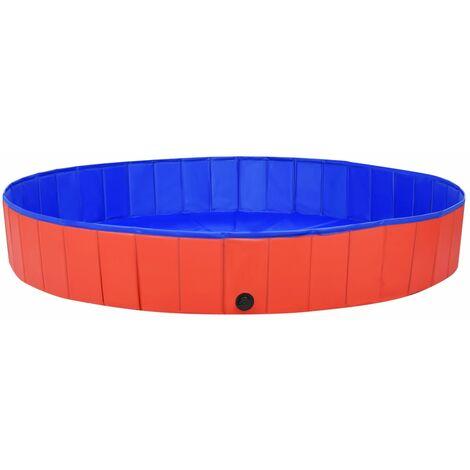Piscine pliable pour chiens Rouge 200x30 cm PVC