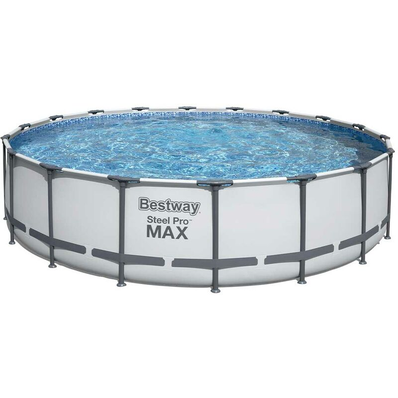 Kit piscine STEEL PRO MAX ronde Ø549x122cm filtration cartouche - Bestway