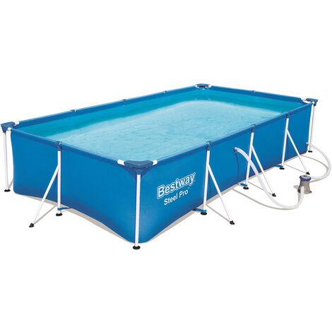Piscine Tubulaire Amovible pour Enfants Bestway Family Splash Frame Pool 400x211x81 cm