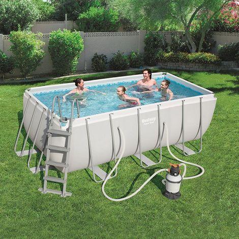 piscine tubulaire bestway 4 12m x 2 01m x 1 22m filtre. Black Bedroom Furniture Sets. Home Design Ideas