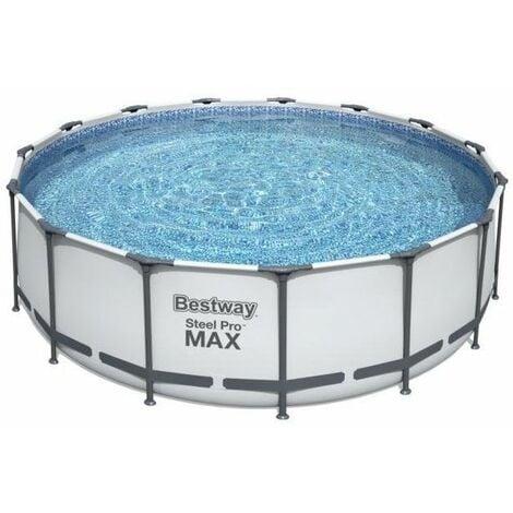 Piscine tubulaire Bestway ronde Steel Pro Max 4.57 x 1.22 m - Bleu