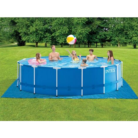 Piscine tubulaire Metal Frame ronde 4,57 x 1,22 m - Intex