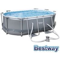 Piscine tubulaire ovale power steel frame pools 3.00 x 2.00 x h.84m