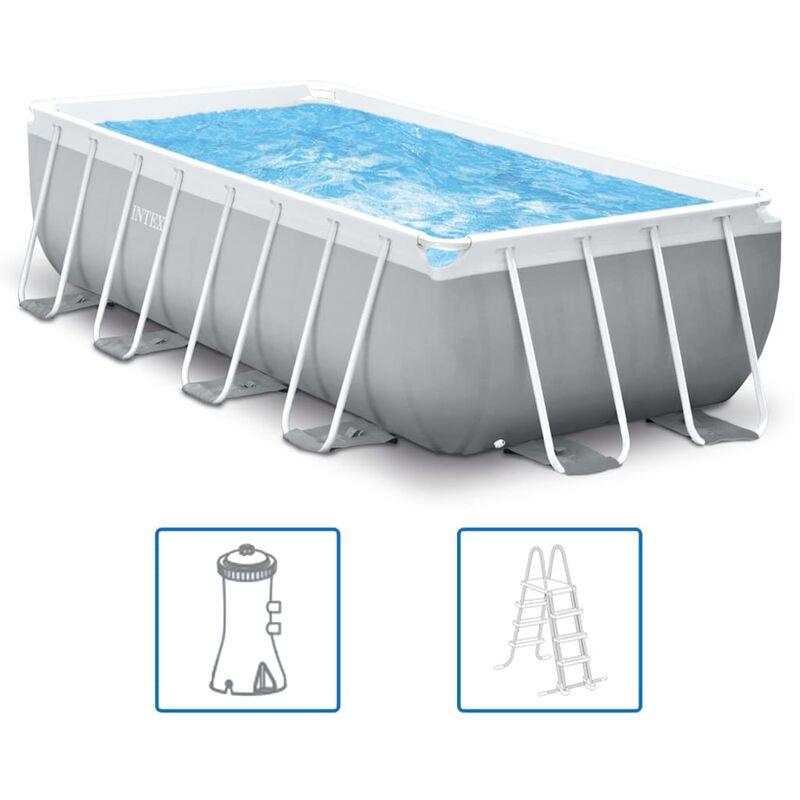 Ensemble de piscine Prism Frame Rectangulaire 400x200x100 cm - Intex