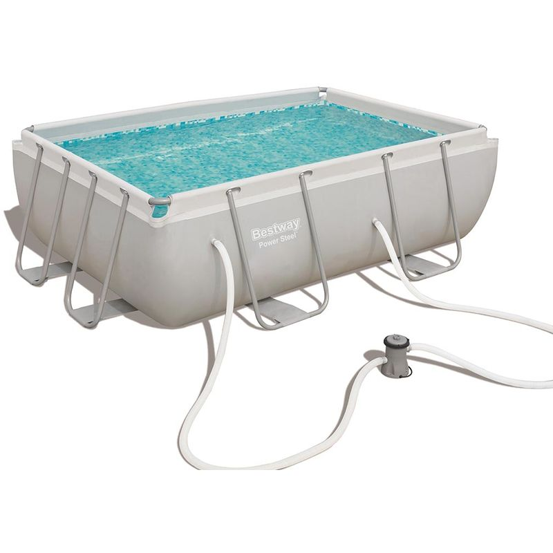 Kit piscine tubulaire Bestway POWER FRAME POOLS rectangulaire 282 x 196 x 84cm