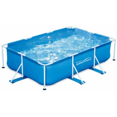 Piscine tubulaire rectangulaire 3x2,01x0,75m Summer Waves