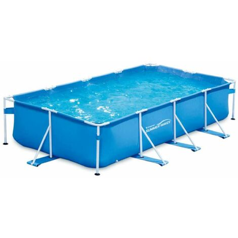 Piscine tubulaire rectangulaire 4,57x2,13x0,84m Summer Waves