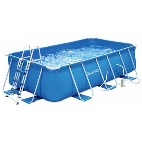 Piscine tubulaire rectangulaire  4x2x1m  Summer-Waves
