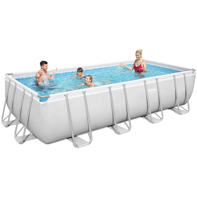Piscine Hors Sol 56671 Power Steel Rectangulaire 488x244x122 cm - Bestway