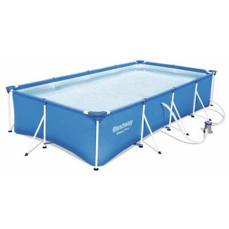 Piscine tubulaire rectangulaire Bestway Steel Pro 4 x 2,11 x 0,81 m - Bleu