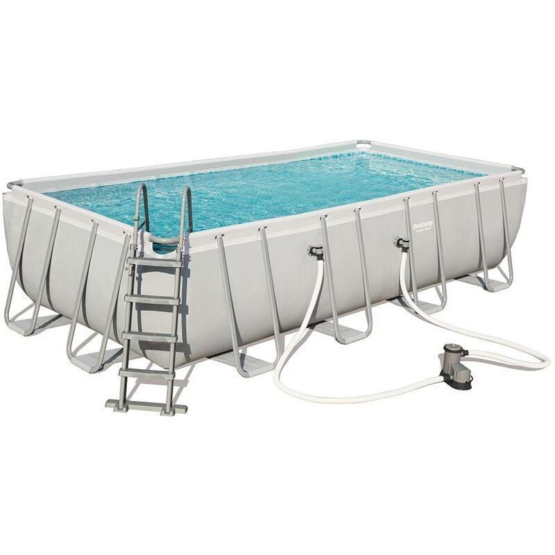 Kit piscine POWER STEEL FRAME POOL 549 x 274 x 122cm à cartouche - Bestway