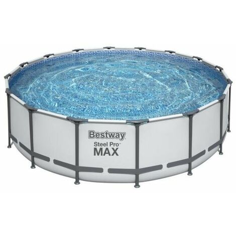 412 x 201 x 122 cm Pack Piscine tubulaire BESTWAY 56722 POWER STEEL 8124 L Dim